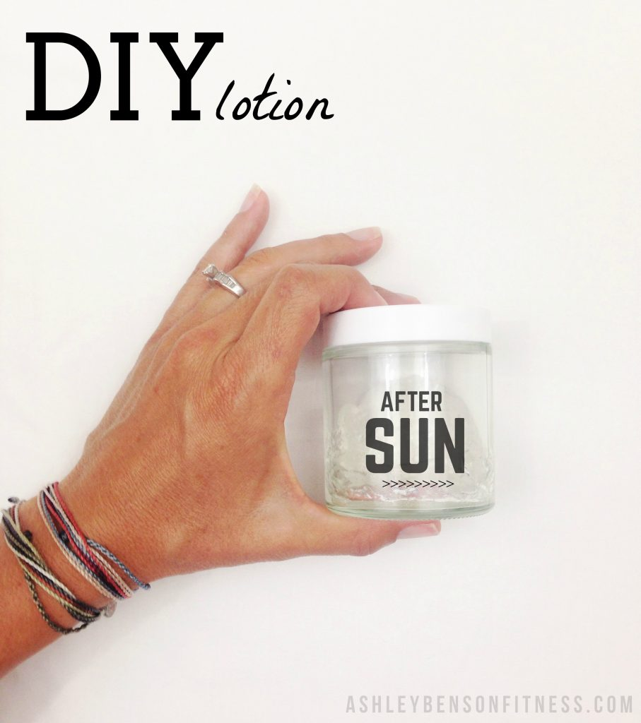 DIY After Sun Lotion